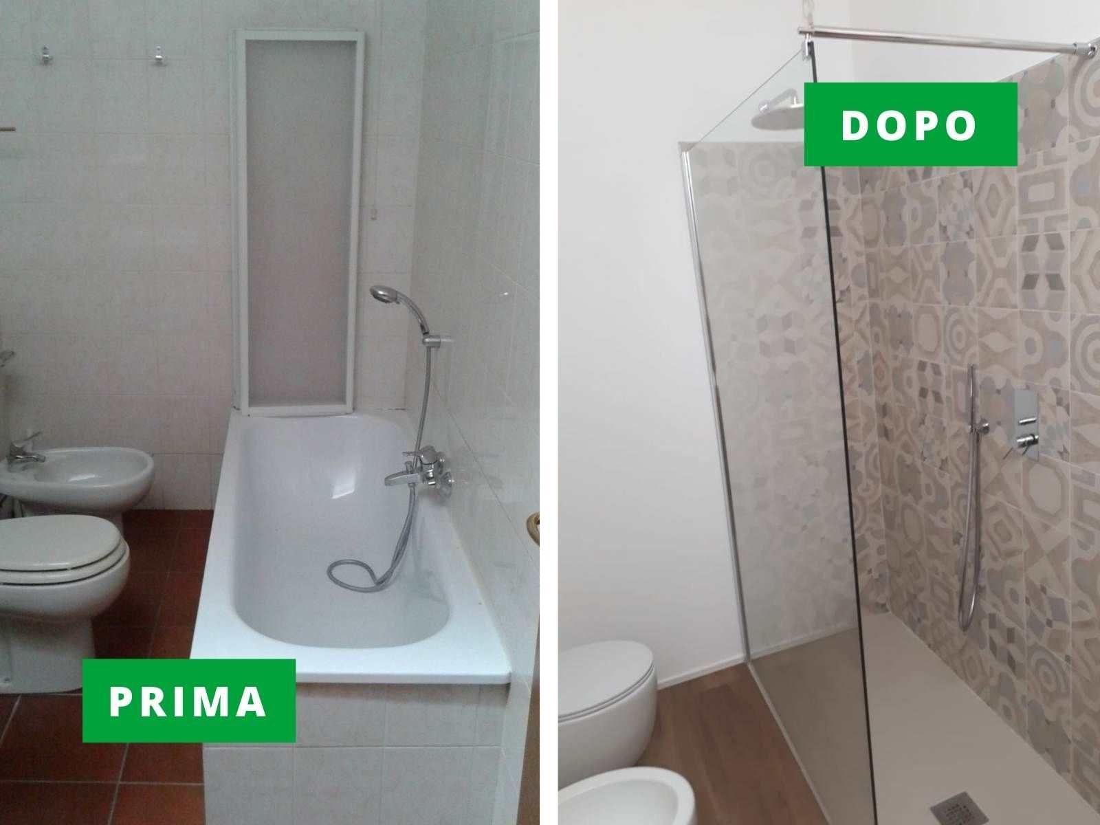 Ristrutturazione completa del bagno chiavi in mano e posa pavimento in lvt a Thiene (Vicenza)