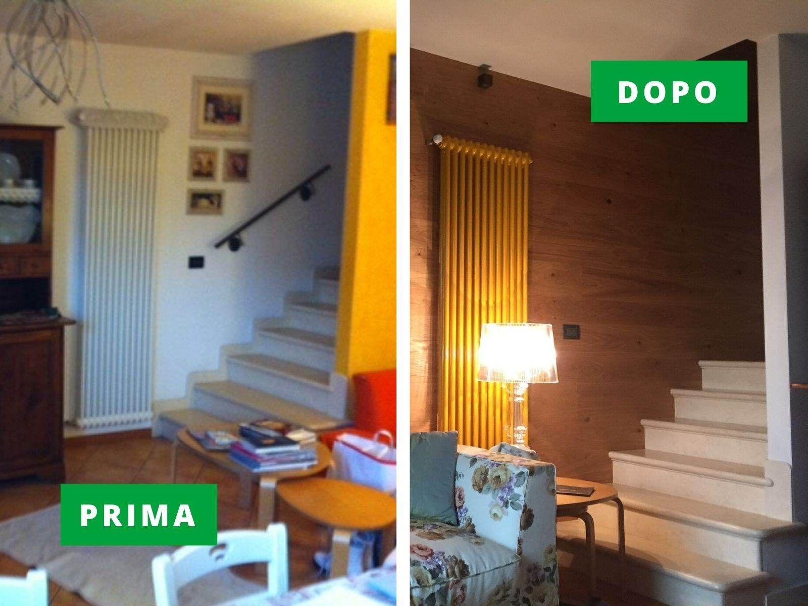 Ristrutturazione con posa pavimento in parquet e rivestimento in legno a Canove di Roana (Vicenza)